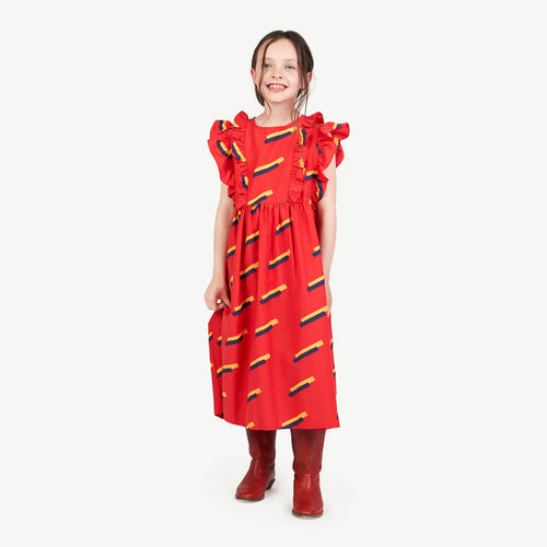 Red Otter Kids Dress Red 80'S