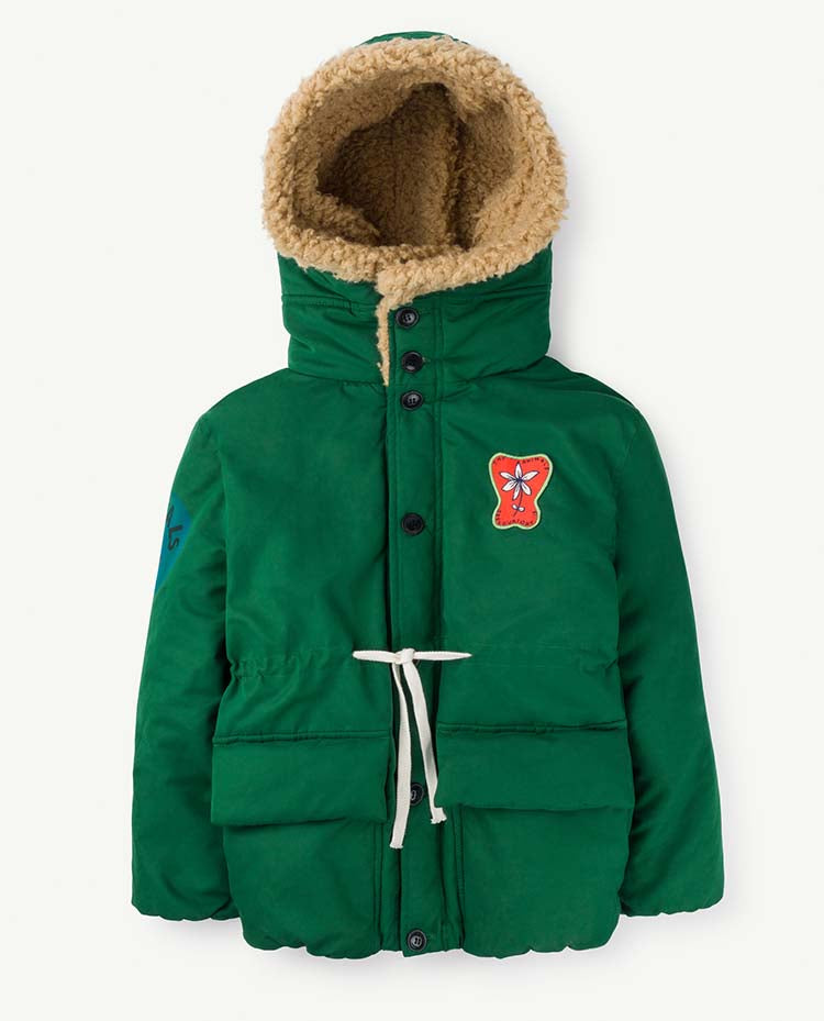 Calf Kids Jacket Green Animals