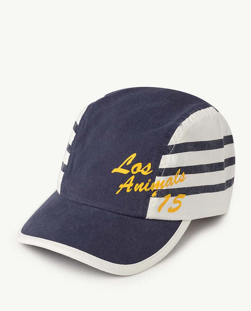 Stripes Hamster Kids Cap Blue Los Animals