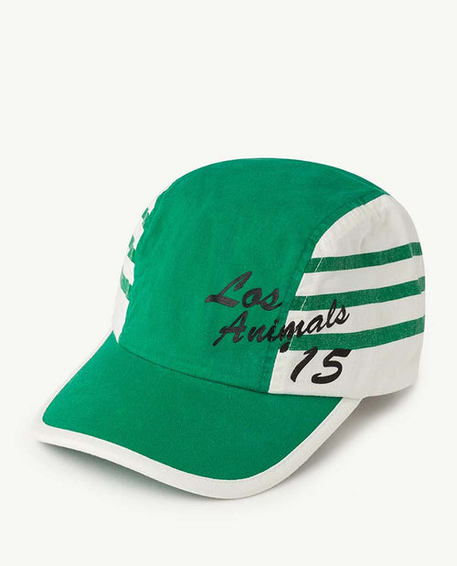 Stripes Hamster Kids Cap Green Los Animals