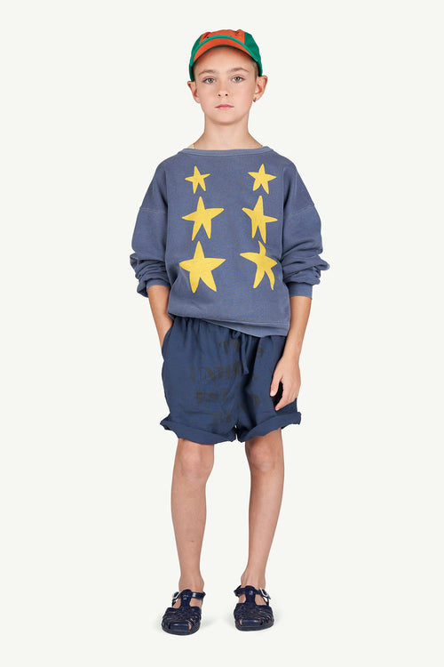 Bear Kids Sweatshirt Blue Stars