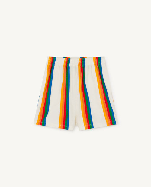 Poodle Kids Shorts White Rainbow