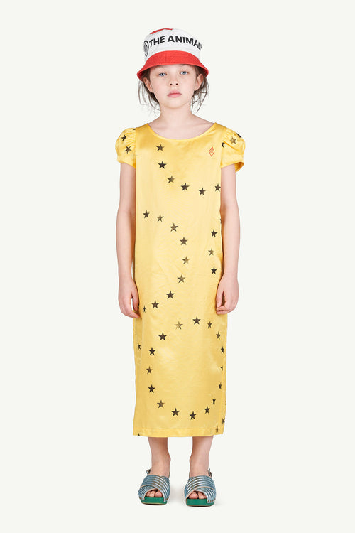 Giraffe Kids Dress Yellow Stars