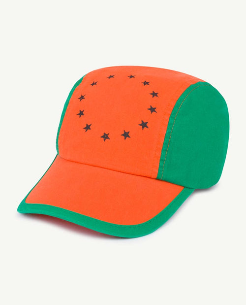 Hamster Onesize Cap Orange Stars