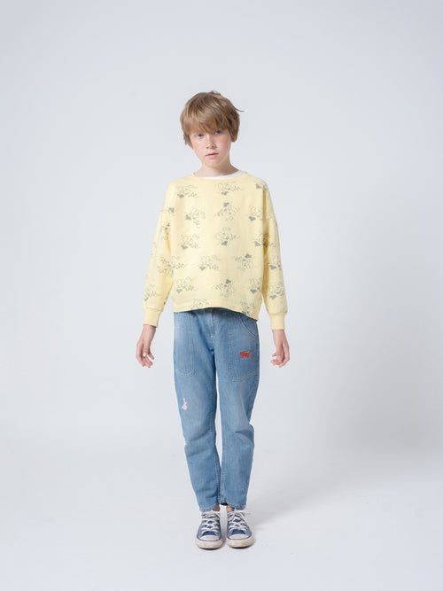Bobo Choses Boy Tangerine Round Neck