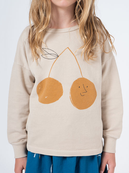 Bobo Choses Kids Cherry Round Neck Sweatshirt