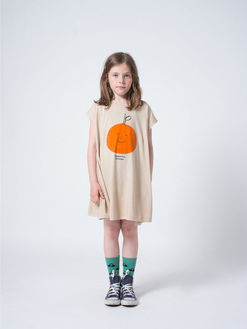 Bobo Choses Girl Tangerine Dreams Evase Dress