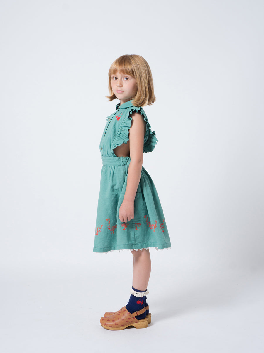 Bobo Choses Girl Geese Ruffles Dress
