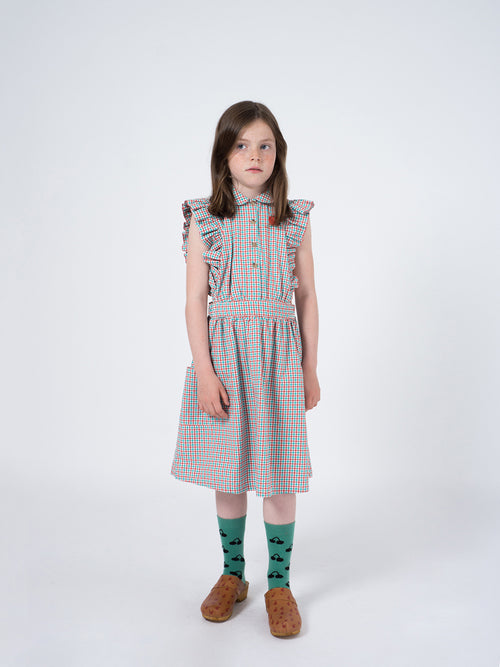 Bobo Choses Girl Vichy Ruffles Dress