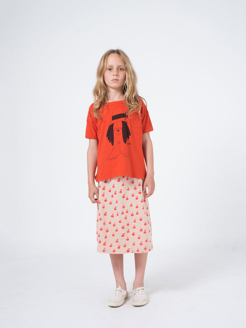 Bobo Choses Girl Apples Pencil Skirt