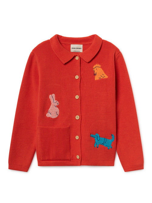 Bobo Choses Kids Animals Cardigan