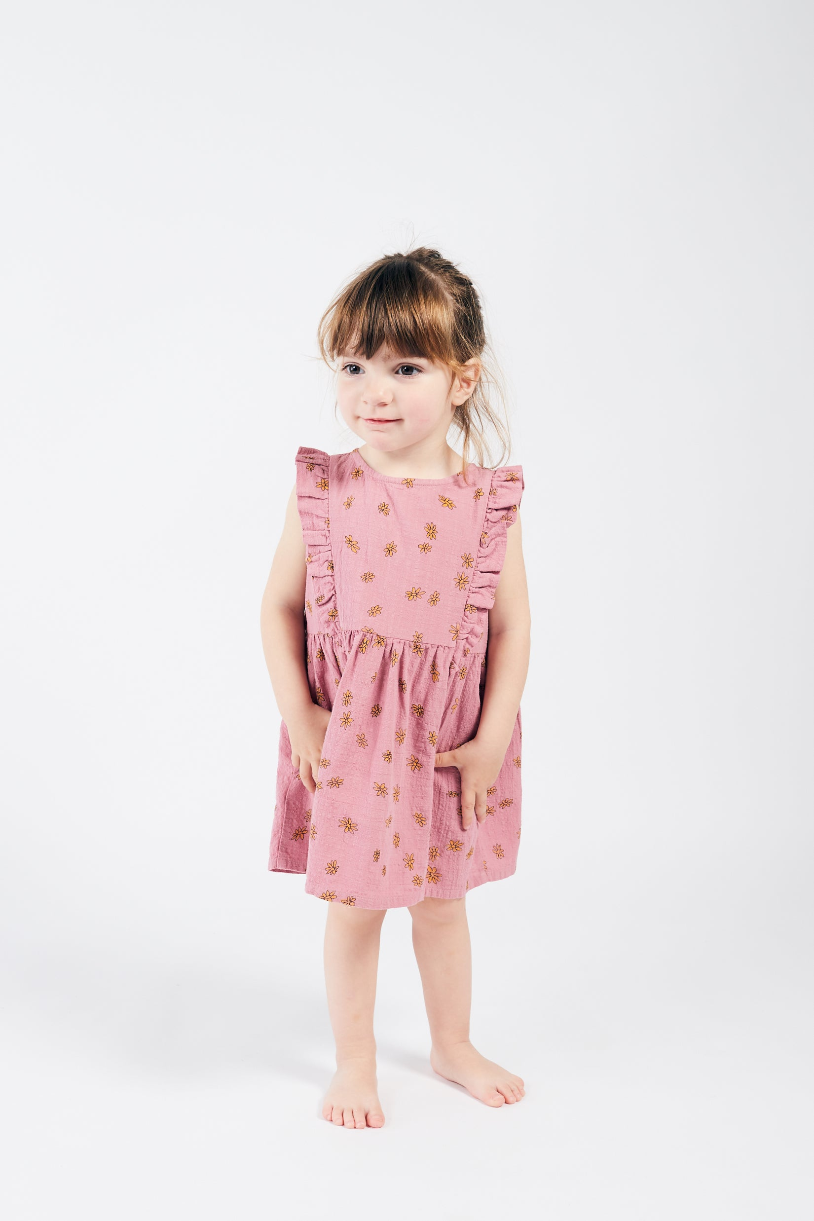 All Over Daisy Ruffle Dress