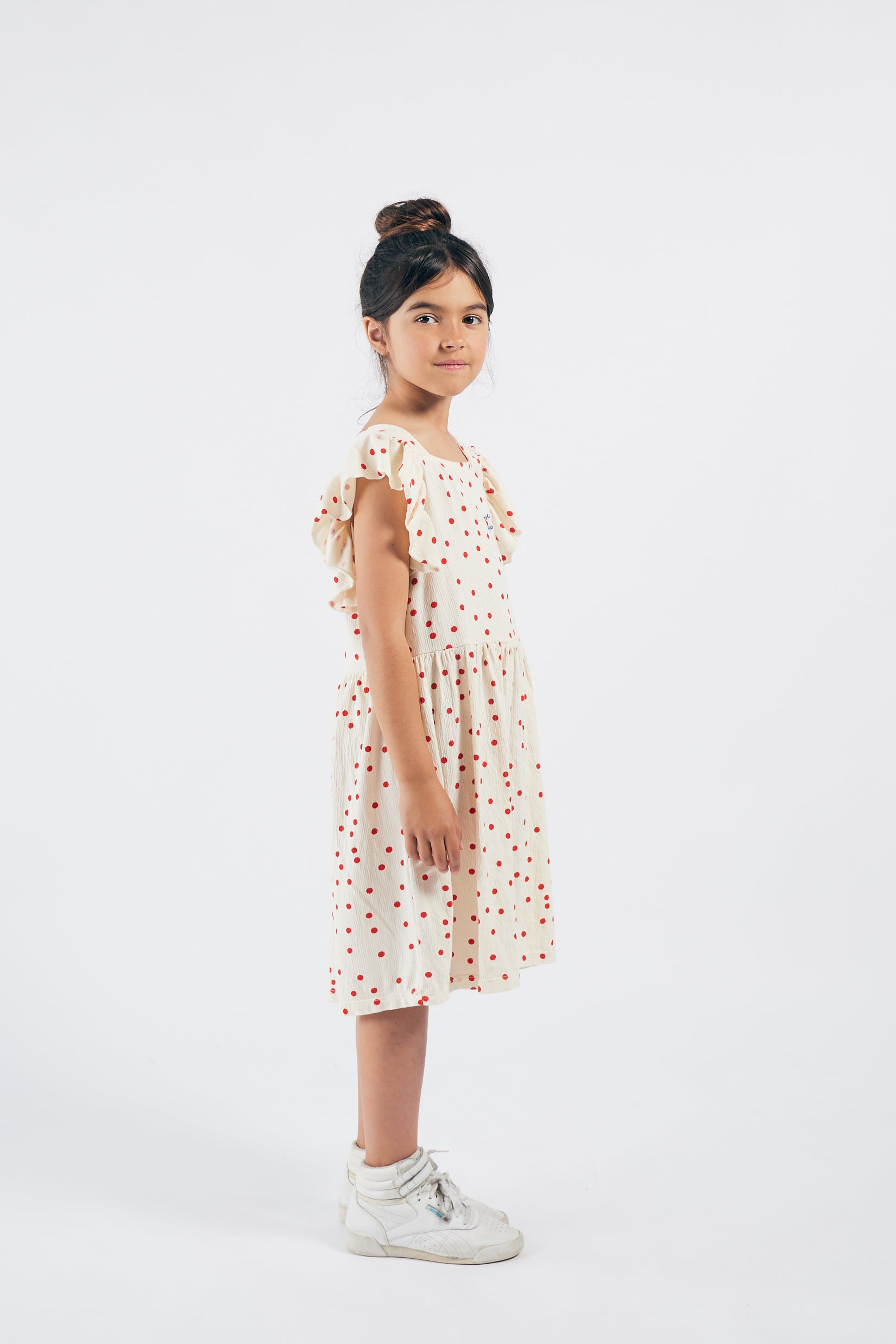 Dots Jersey Ruffle Dress