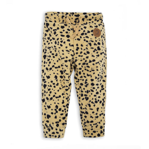 BOYS/GIRLS beige FLEECE SPOT TROUSERS