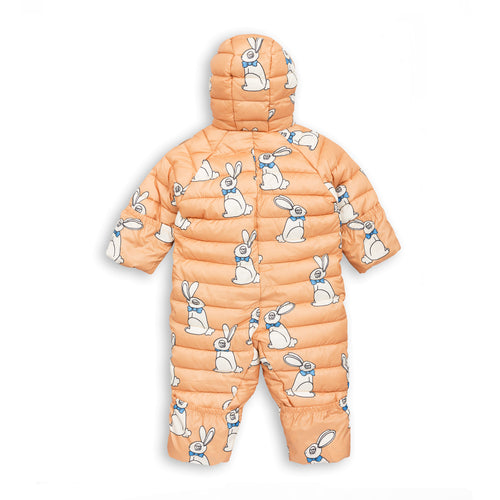 BABY GIRLS beige RABBIT INSULATOR OVERALL