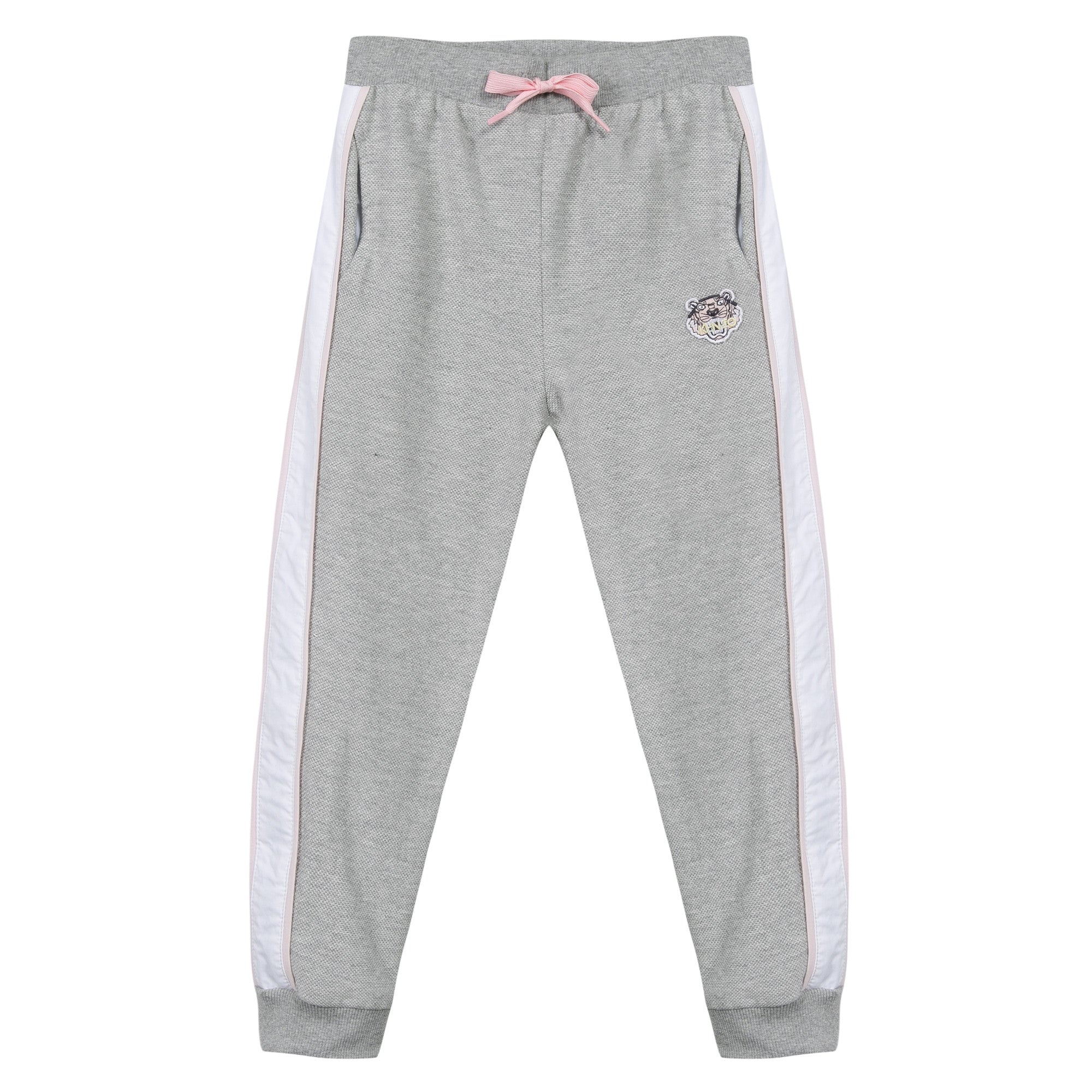 Girls Grey Fleece Tracksuit Pants