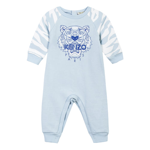 BABY BOYS LIGHT BLUE TIGER PLAYSUIT