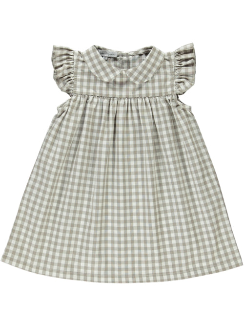 Louisa Dress Taupe Gingham