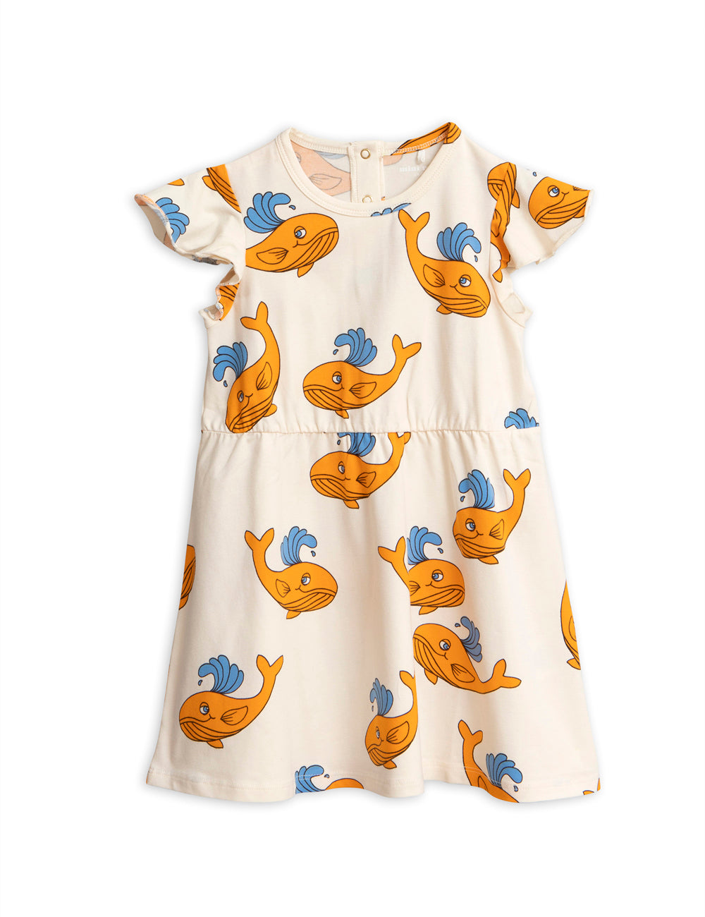Whale Aop Wing Dress Orange