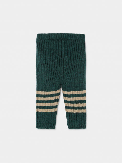 Bobo Knee Stripes Knitted Leggings