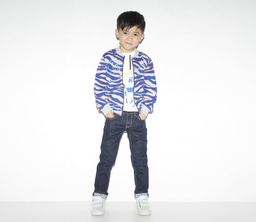 BOYS MARLED GREY CEDRIX JACKET