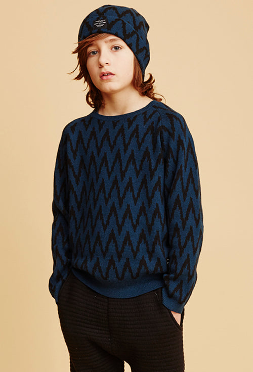 Boys Blue Dicy Sweater