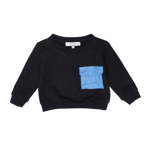 Baby Boys Black Jersey Sweatshirt