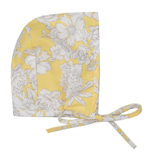 Baby Girls Yellow Floral Alice Bonnet
