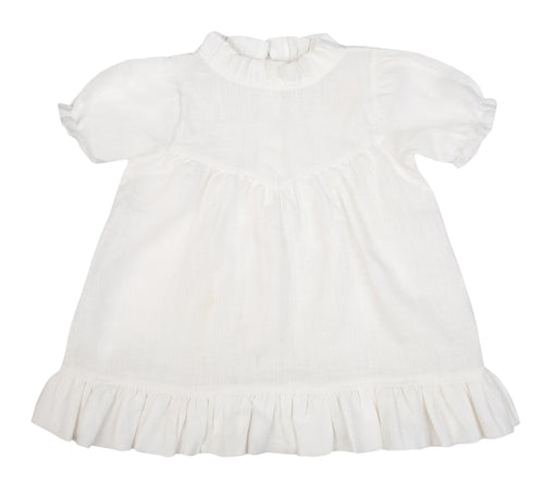 Classic Odette Dress Natural White