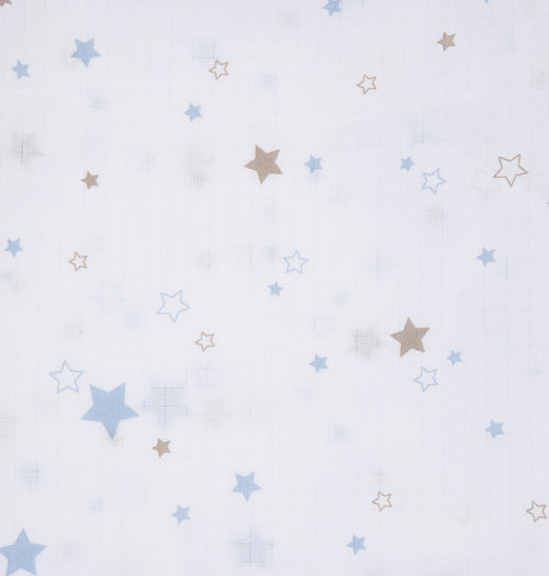Baby Unisex Blue Star Swaddle