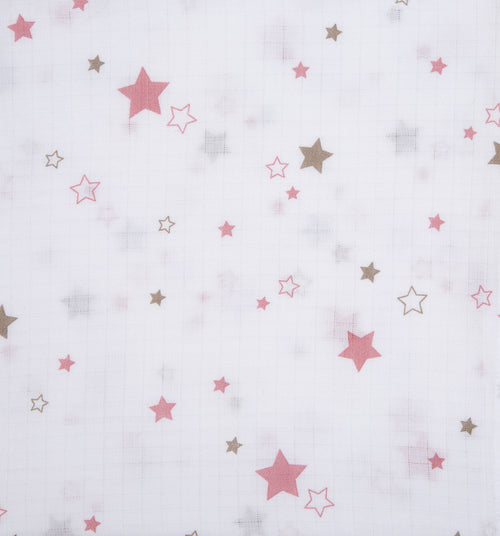 Baby Unisex Pink Star Swaddle