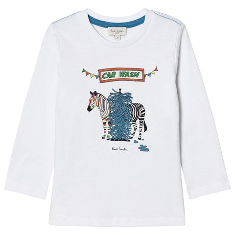 BOYS WHITE POLAR TEE-SHIRT