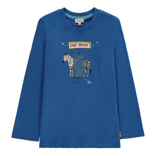 BOYS ROYAL BLUE POLAR TEE-SHIRT