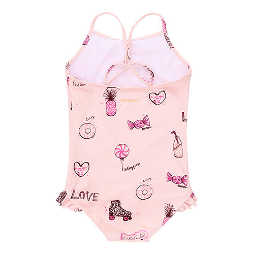Girls AOP Candy Rose Cloud Ida Swimsuit