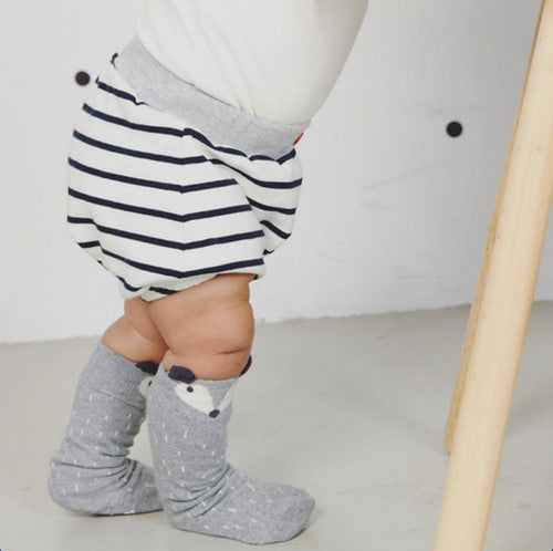 Baby Organic Black Striped Bloomers