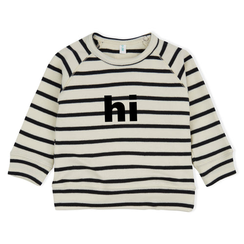 Baby Organic Black Striped Hi Sweatshirt
