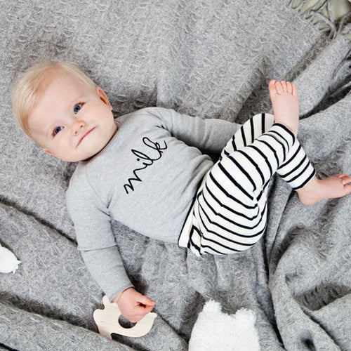 Baby Boy/Girl Organic Grey Milk Sweatshirt
