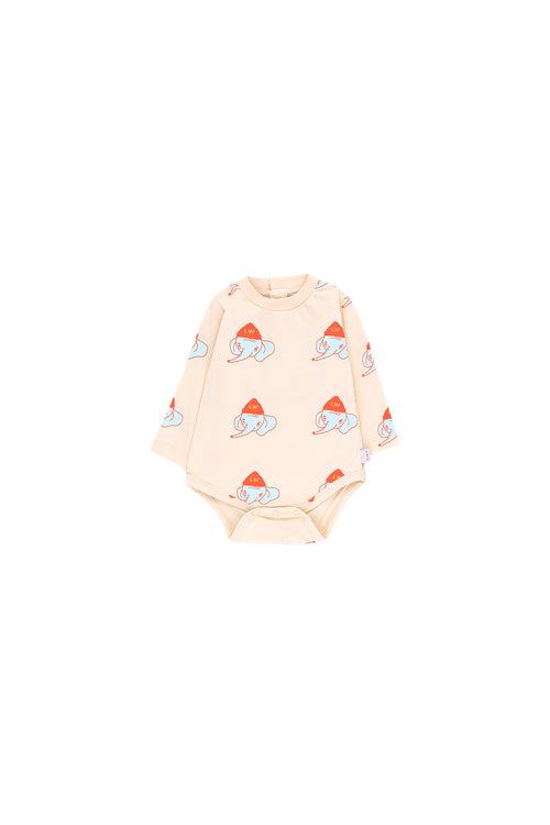 """Luckyphant"" Ls Body  Light Cream/Light Mint"