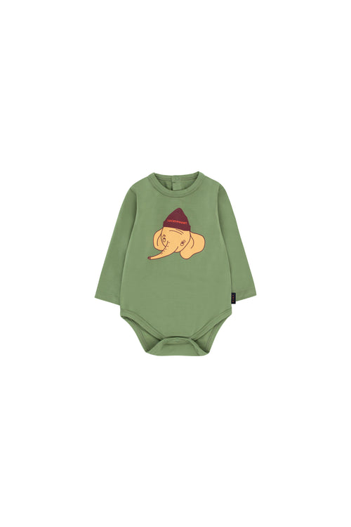 """Luckyphant"" Ls Body  Green Wood/Sand"