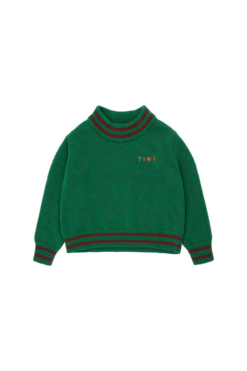 Lines Crop Sweater  Deep Green/Aubergine
