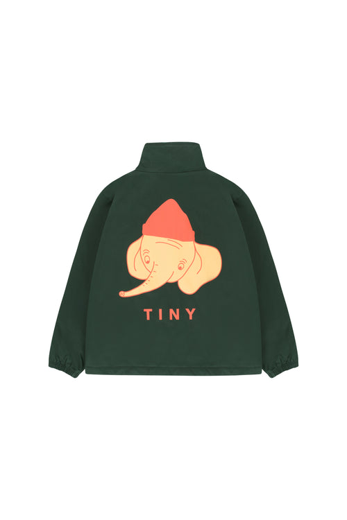"""Luckyphant"" Jacket  Bottle Green/Sand"