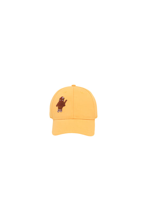 """Cat"" Cap  Yellow/Brown"