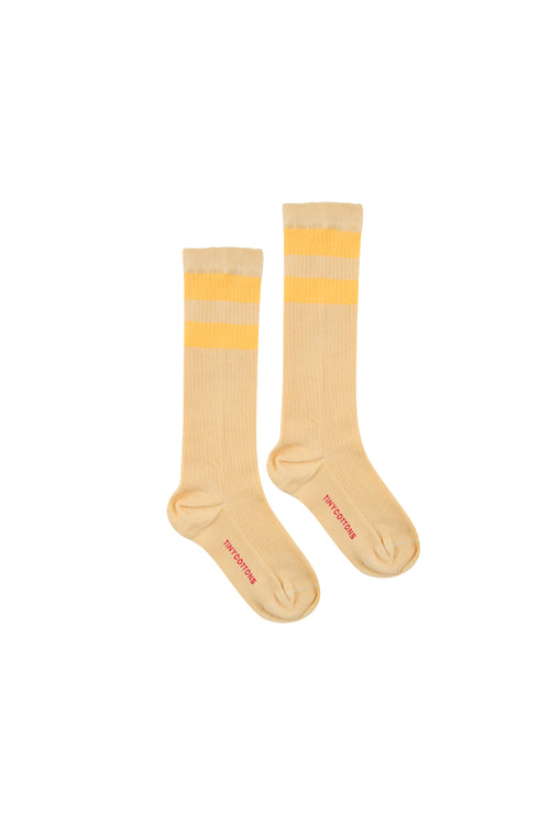 Stripes High Socks  Sand/Yellow