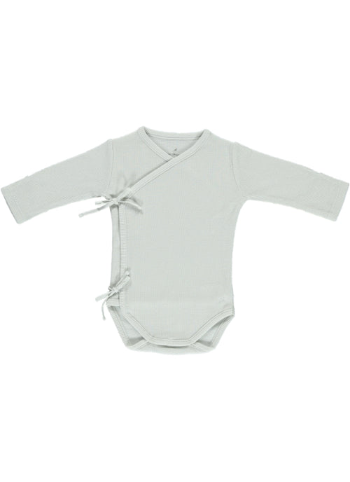 Bebe Wrap Onesie Feather Gray