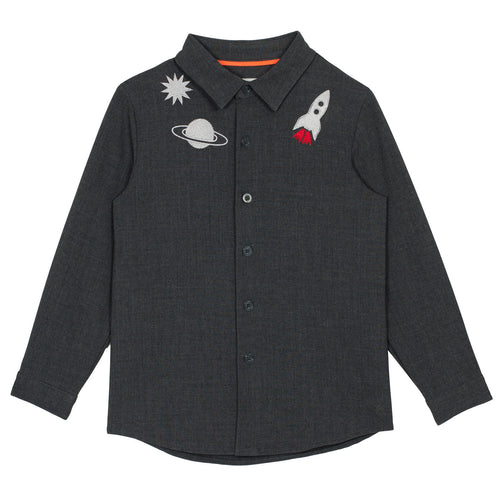 BOYS Charcoal Space Shirt