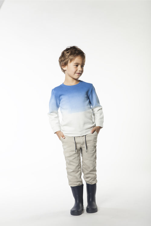 BOYS BLUE-WHITE SWEATSHIRT