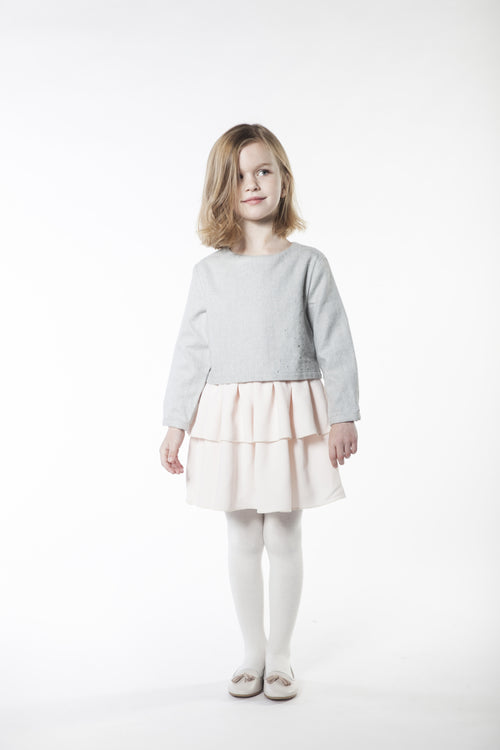 Girls GREY/PINK DRESS CEREMONIE