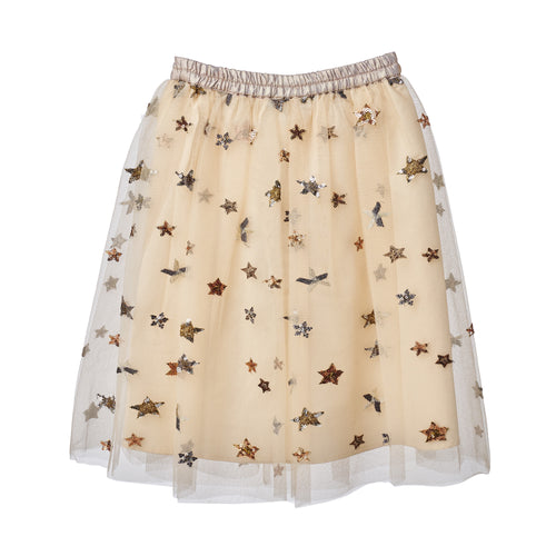 GIRLS GOLD STARS TULLE SKIRT