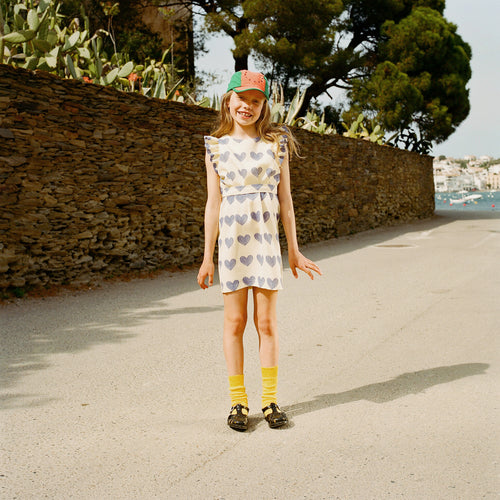 Weasel Kids Dress Yellow Hearts