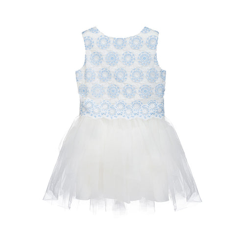 Girls Lace and Tulle Sleeveless Dress